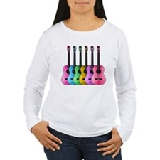 Colorful Guitars Long Sleeve T-Shirt