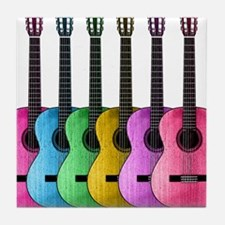 Colorful Guitars Tile Coaster
