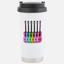 Colorful Guitars Stainless Steel Travel Mug