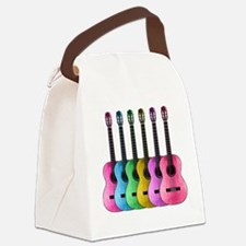 Colorful Guitars Canvas Lunch Bag