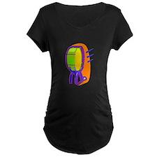 Cartoon Drum Maternity T-Shirt