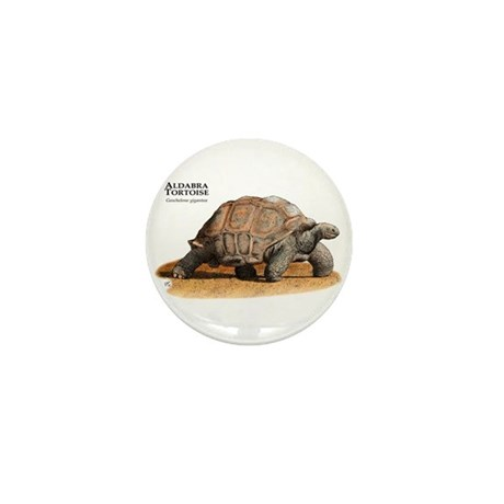 Aldabra Tortoise Mini Button