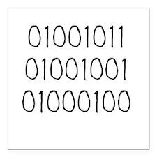 "KID 01001011 Square Car Magnet 3"" x 3"""