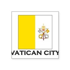 "Cute Vatican Square Sticker 3"" x 3"""
