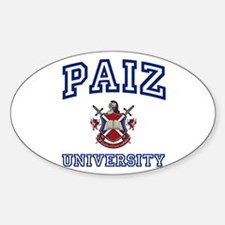 PAIZ University Oval Decal