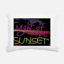 Night of Hope Sunset Rectangular Canvas Pillow