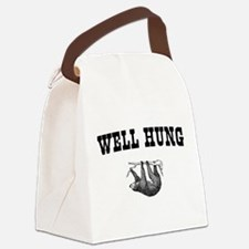 Sloth Well Hung Canvas Lunch Bag