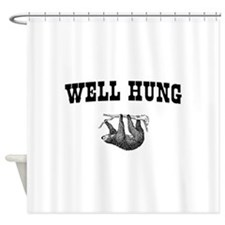 Sloth Well Hung Shower Curtain