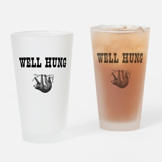 Sloth Well Hung Drinking Glass