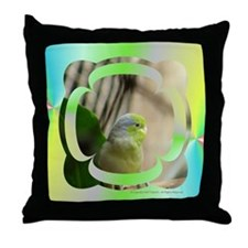 Blue-Winged Parrotlet Throw Pillow