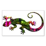Green Purple Gecko Sticker (Rectangle)