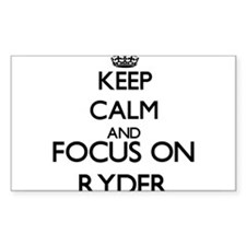 Keep calm and Focus on Ryder Decal
