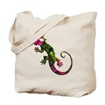 Green Purple Gecko Tote Bag