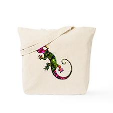 Green Purple Gecko Tote Bag