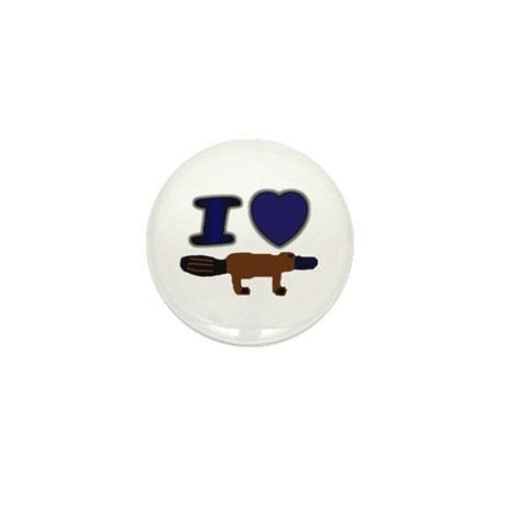 I Love ( Heart ) Duck Billed Mini Button