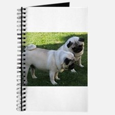 Two fawn Pugs Journal