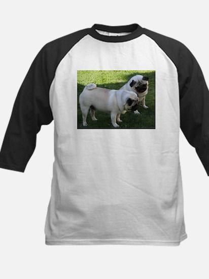 Two fawn Pugs Baseball Jersey