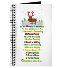 Red Nose Reindeer And Colorful 12 Days Of Journal
