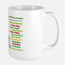 Red Nose Reindeer And Colorful 12 Days Of Mugs