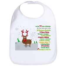 Red Nose Reindeer And Colorful 12 Days Of Bib