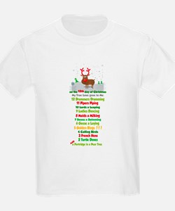 Red Nose Reindeer and colorful 12 Days of Christma