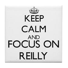 Keep calm and Focus on Reilly Tile Coaster