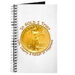 Gold Liberty Gold Motto Journal