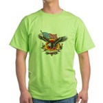 4th of July Screamin' Eagles Green T-Shirt