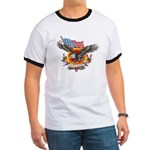 4th of July Screamin' Eagles Ringer T
