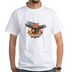 4th of July Screamin' Eagles White T-Shirt