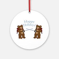 Teddy Bear Fencers Ornament (Round)
