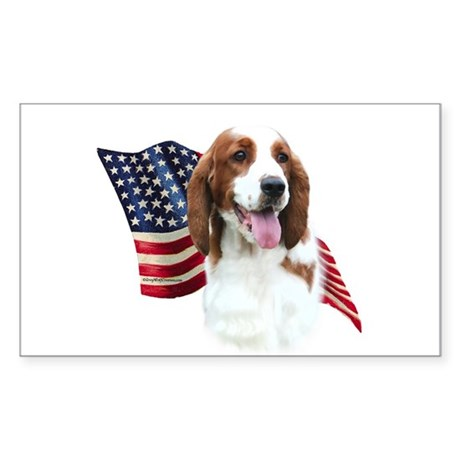 Welsh Springer Flag Rectangle Sticker