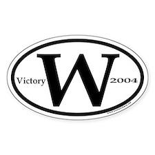 George W. Bush Victory 2004 Oval Sticker With W
