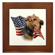 Welsh Terrier Flag Framed Tile