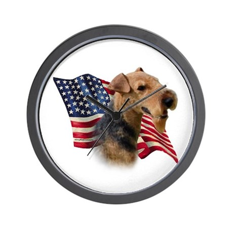 Welsh Terrier Flag Wall Clock
