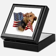 Welsh Terrier Flag Keepsake Box