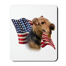 Welsh Terrier Flag Mousepad