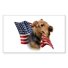 Welsh Terrier Flag Rectangle Decal