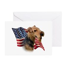 Welsh Terrier Flag Greeting Cards (Pk of 10)