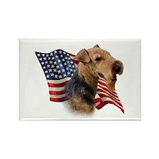 Welsh Terrier Flag Rectangle Magnet