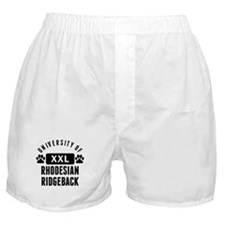 University Of Rhodesian Ridgeback Boxer Shorts