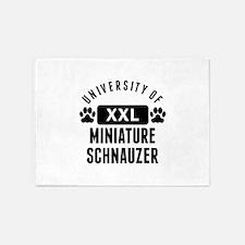 University Of Miniature Schnauzer 5'x7'Area Rug
