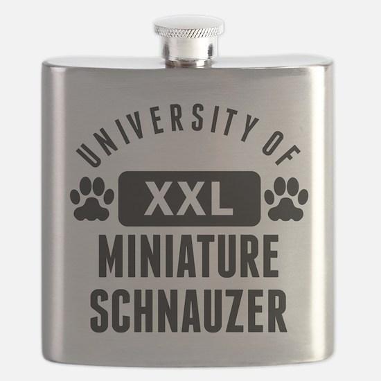 University Of Miniature Schnauzer Flask