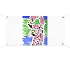 Flamingos Two Banner