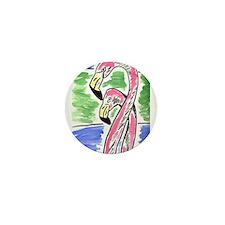 Flamingos Two Mini Button