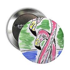 """Flamingos Two 2.25"""" Button"""