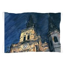 French Quarter Cathedral Pillow Case