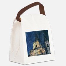 French Quarter Cathedral Canvas Lunch Bag