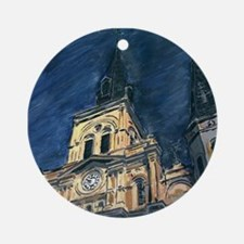 French Quarter Cathedral Ornament (Round)