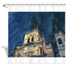 French Quarter Cathedral Shower Curtain